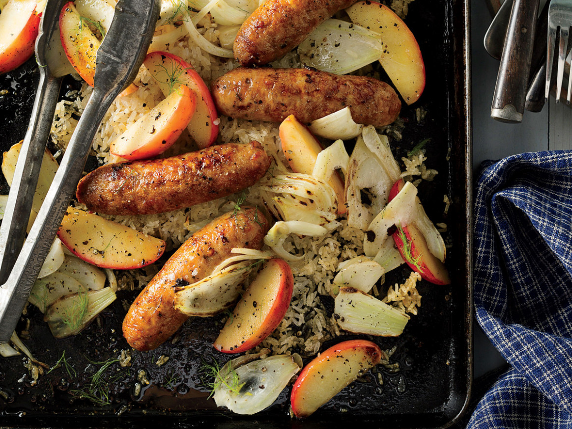 Chicken Sausage with Fennel and Apples Recipe - recipes with sausage for dinner