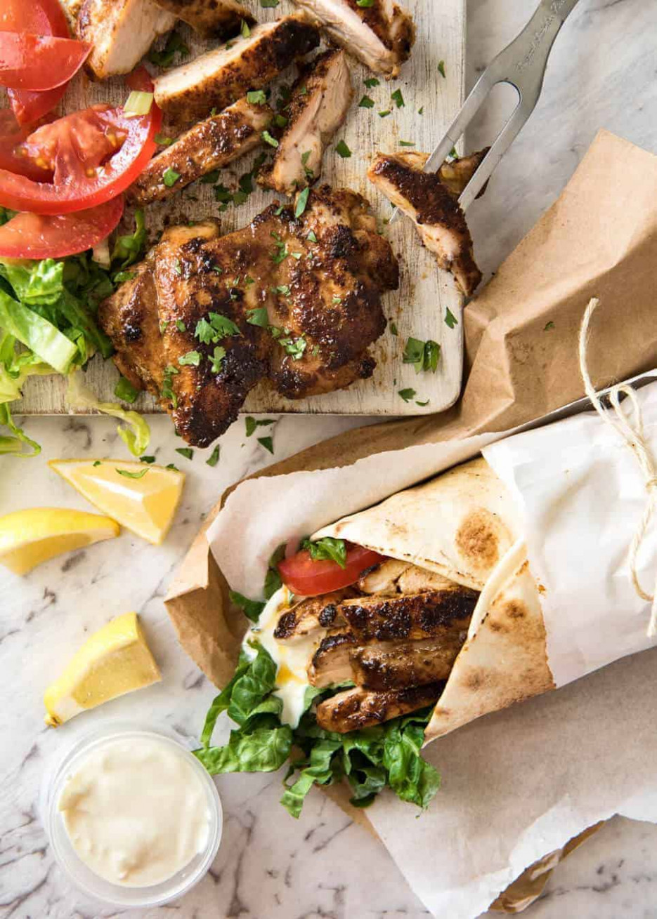 Chicken Shawarma (Middle Eastern) - middle eastern recipes chicken