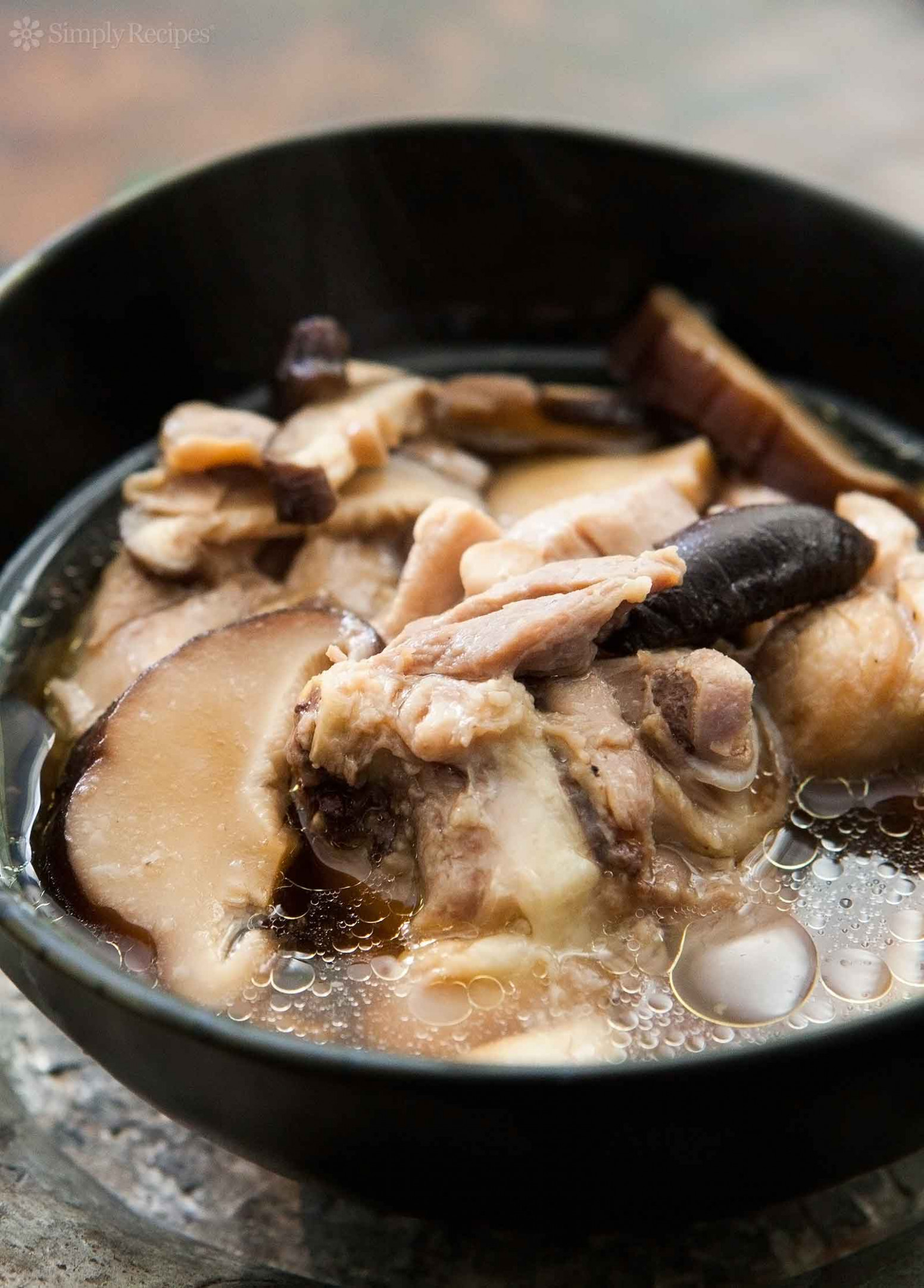 Chicken Soup with Ginger and Shiitake Mushrooms - chinese recipes chicken