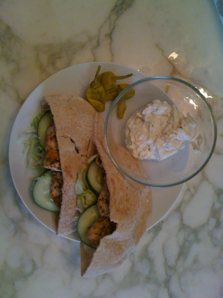 Chicken Souvlaki Pitas with Tahini Sauce - greek yogurt recipes dinner