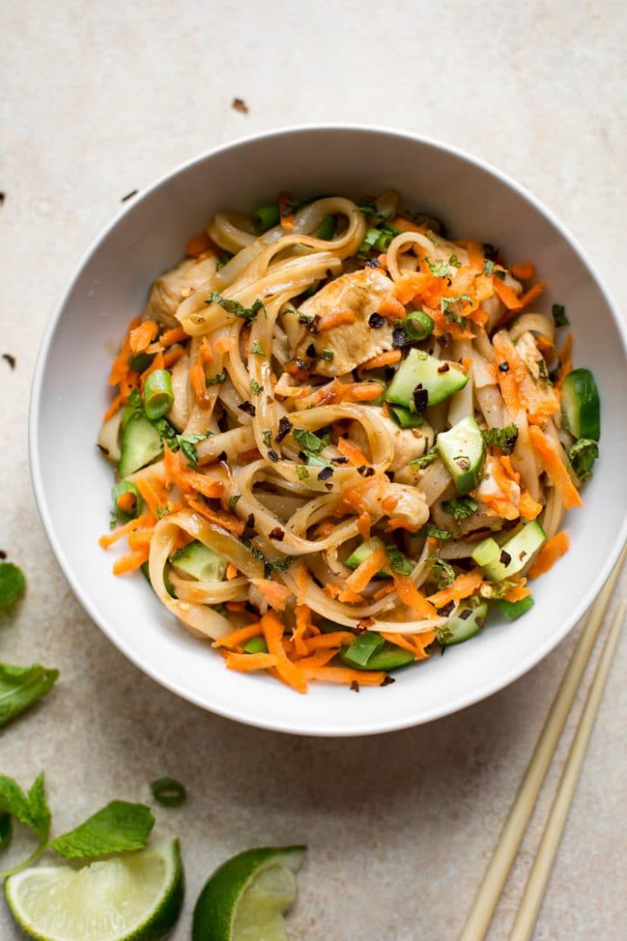 Chicken Stir Fry with Rice Noodles • Salt & Lavender - vermicelli noodle recipes chicken