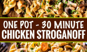 Chicken Stroganoff – 15 Minute, One Pot Meal – The Chunky Chef – Recipes Easy Cheap Dinner