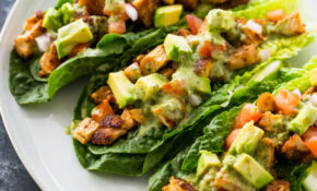 Chicken Taco Lettuce Wraps (Healthy, Low-carb, Keto)