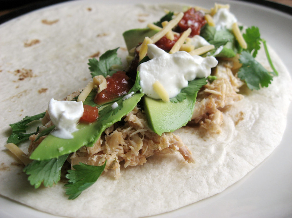 Chicken Tacos - chicken recipes in slow cooker