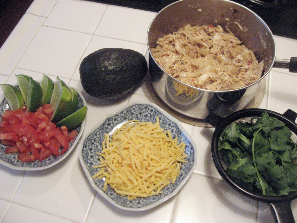 Chicken Tacos - Recipes Cooked Chicken