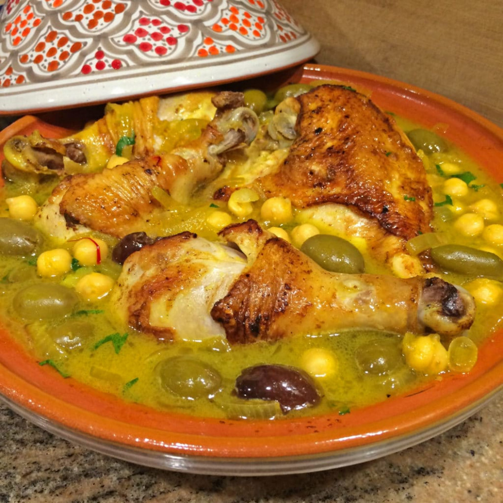Chicken Tagine with Chickpeas, Olives and Preserved Lemon ..