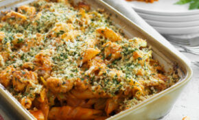 Chicken, Tomato And Parmesan Pasta Bake | Food In A Minute – Recipes Dinner Nz