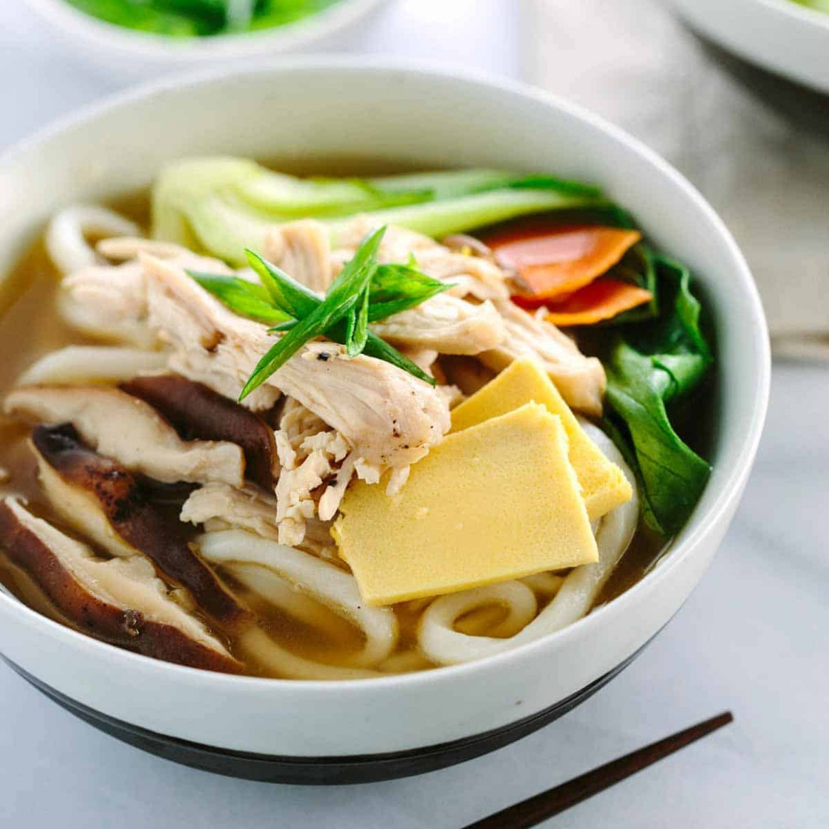 Chicken Udon Soup with Bok Choy - Jessica Gavin - udon noodle recipes chicken