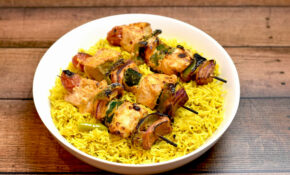 Chicken & Vegetable Skewers With Lemon Rice – Kabob Recipes Chicken