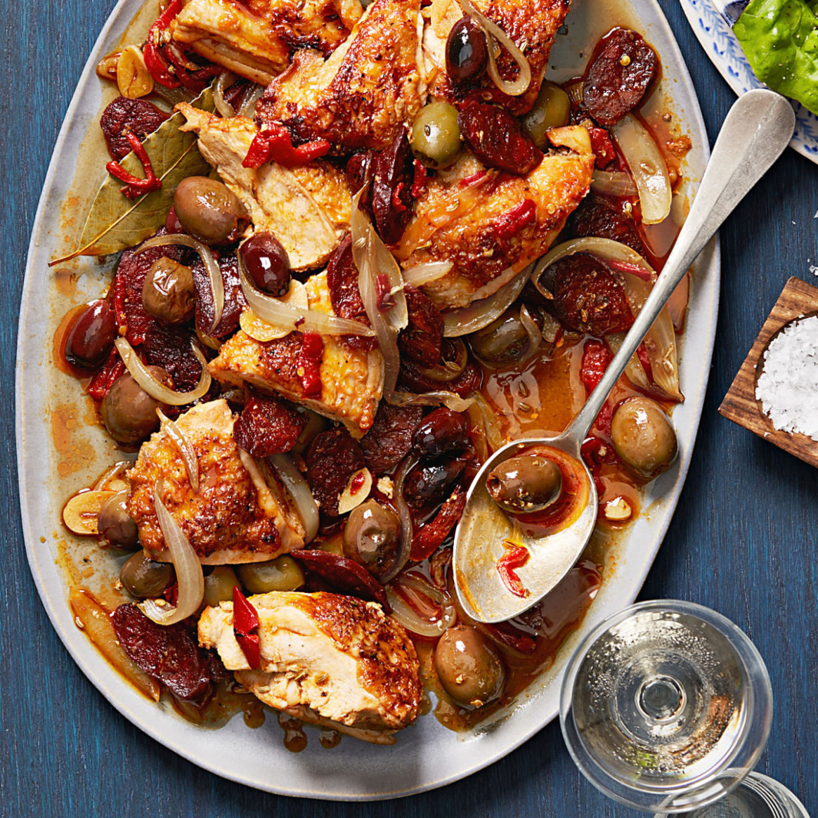 Chicken with Chorizo & Olives - Rachael Ray Every Day - recipes chorizo and chicken