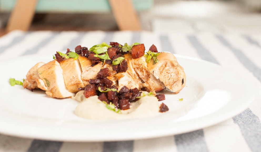 Chicken With Egg Plant Puree - Recipes Eggplant And Chicken