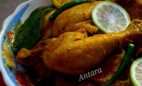 Chicken With Flavour Lemon And Green Chilly Recipe By Antara ..
