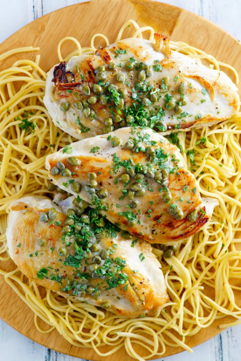 Chicken with Lemon Caper Sauce - chicken recipes with sauce
