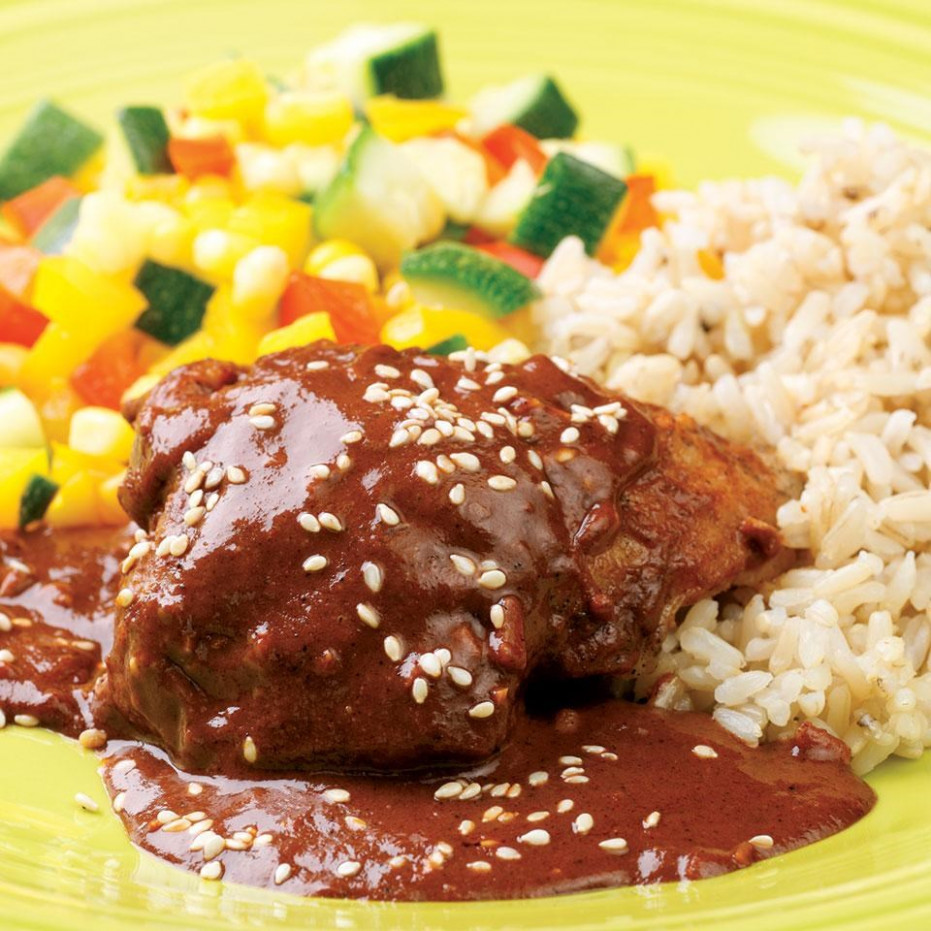 Chicken With Quick Mole Sauce - Chicken Recipes With Sauce