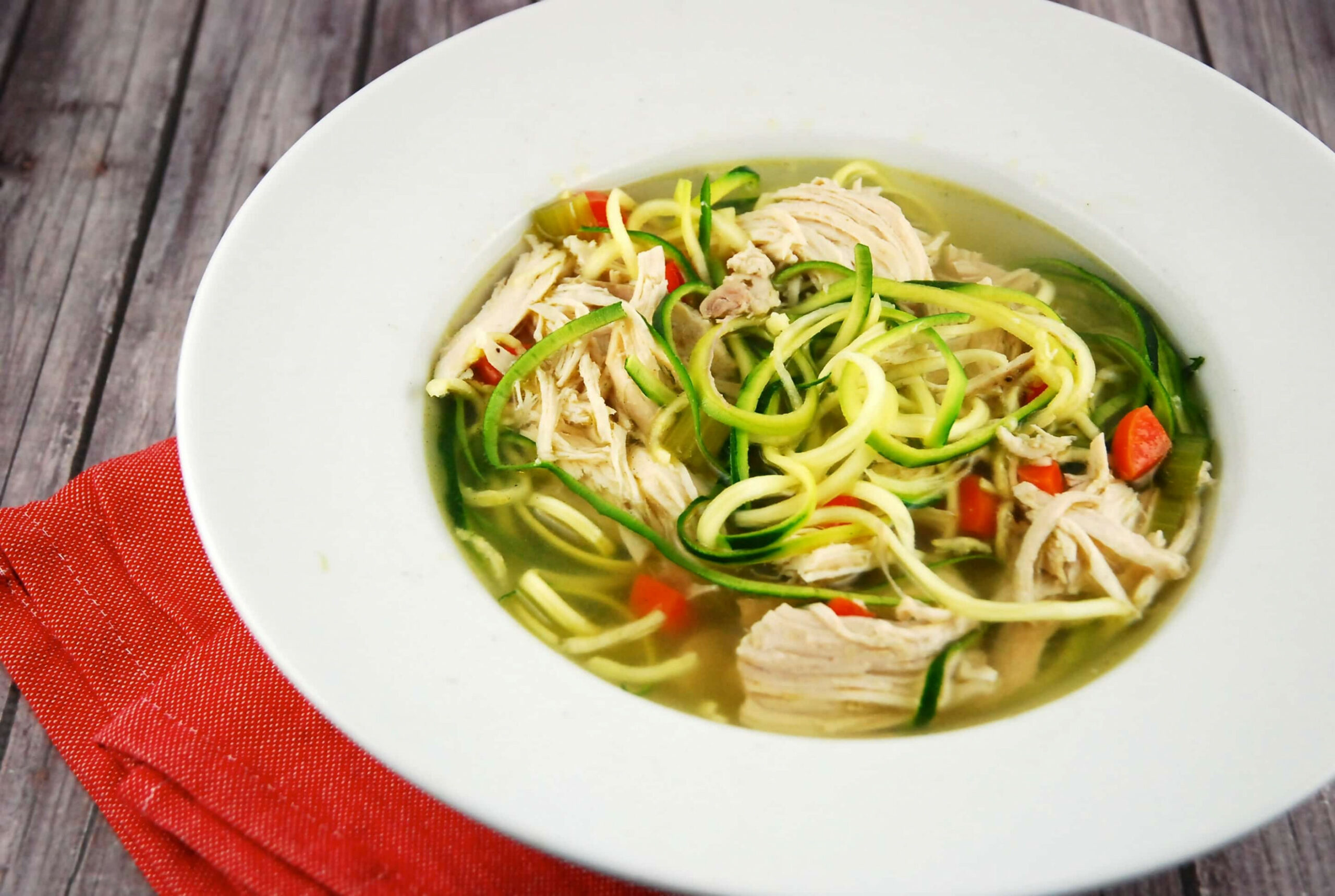 Chicken Zoodle Soup - chicken recipe zoodle