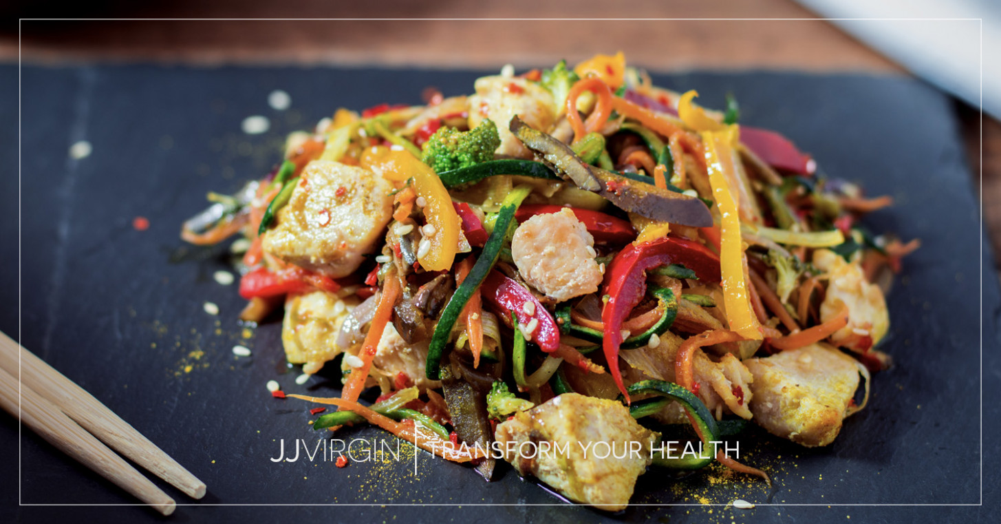 Chicken Zoodle Stir Fry - Chicken Recipe Zoodle
