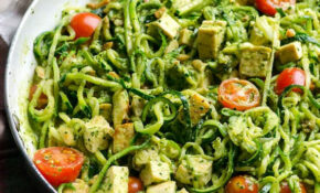 Chicken Zucchini Noodles With Pesto – IFOODreal – Healthy ..
