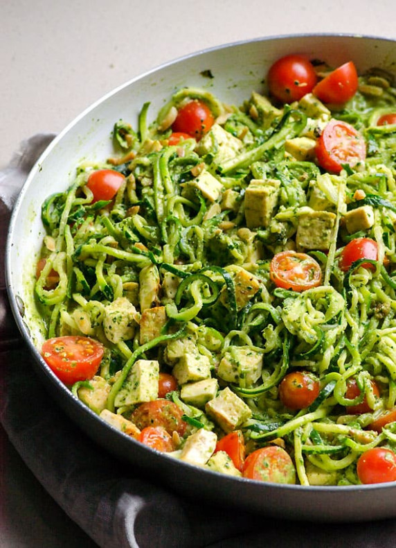 Chicken Zucchini Noodles with Pesto - iFOODreal - Healthy ..