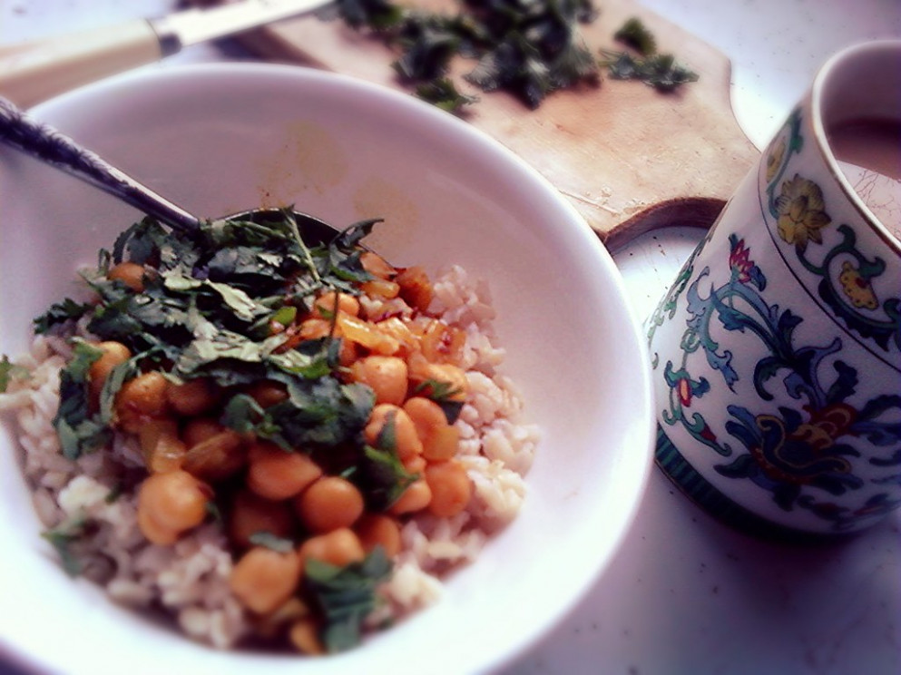Chickpea Curry - food recipes to lower cholesterol