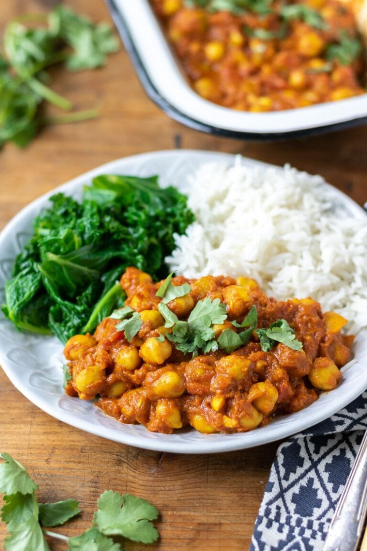 Chickpea Curry - vegan recipes dinner quick