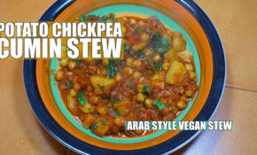 Chickpea Potato Stew – Arab Style Potatoes – How To Cook Middle Eastern  Vegan Recipe – Middle Eastern Vegetarian Recipes