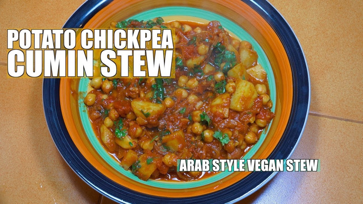 Chickpea Potato Stew - Arab Style Potatoes - How To Cook Middle Eastern  Vegan Recipe - Middle Eastern Vegetarian Recipes