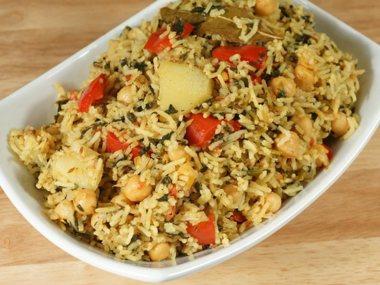 Chickpea Pulav (Chole Biryani, One Pot Meal) - Manjula's ..