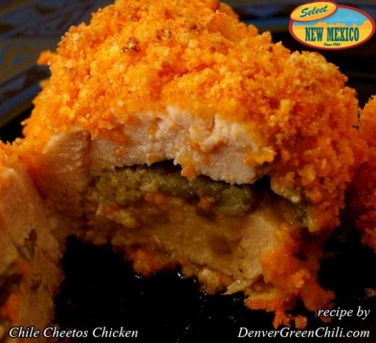 Chile Cheetos Chicken - Denver Green Chili - chicken recipes to freeze