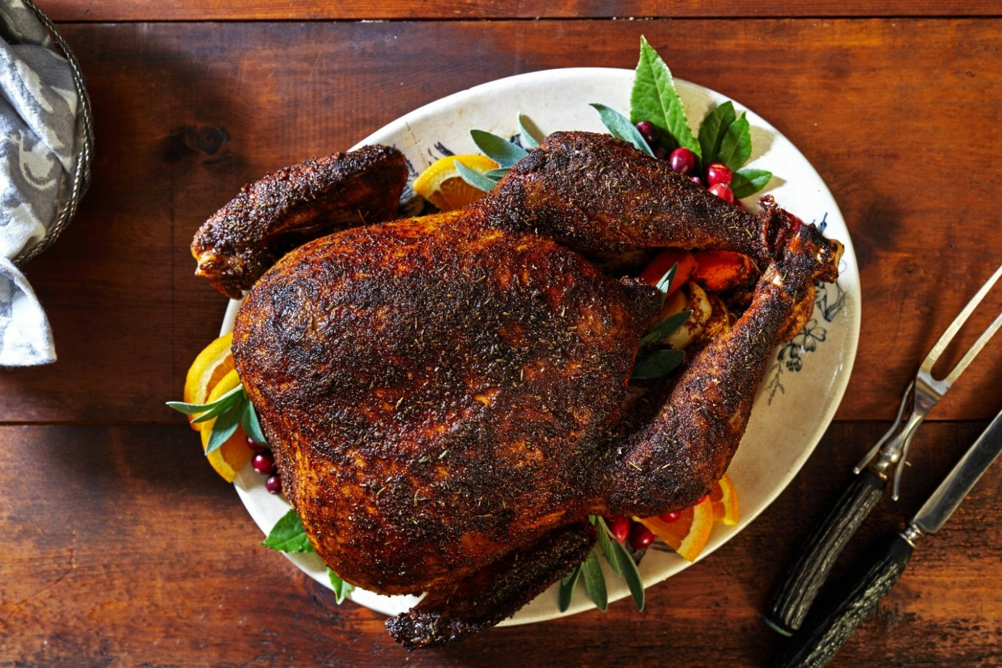 Chile-Rubbed Roast Turkey - healthy recipes roasted turkey legs