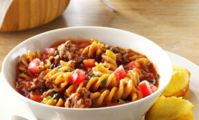 Chili Beef Pasta Recipe | Taste Of Home – Recipes Dairy Free Dinner