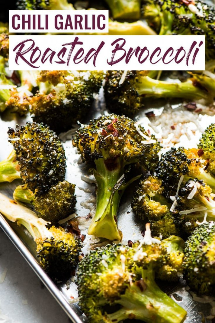 Chili Garlic Roasted Broccoli - healthy recipes broccoli