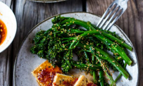 Chili Garlic Tofu With Sesame Broccolini – Tofu Recipes Dinner