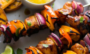Chili Lime Chicken Skewers With Mango Sauce | Sweet Peas And ..