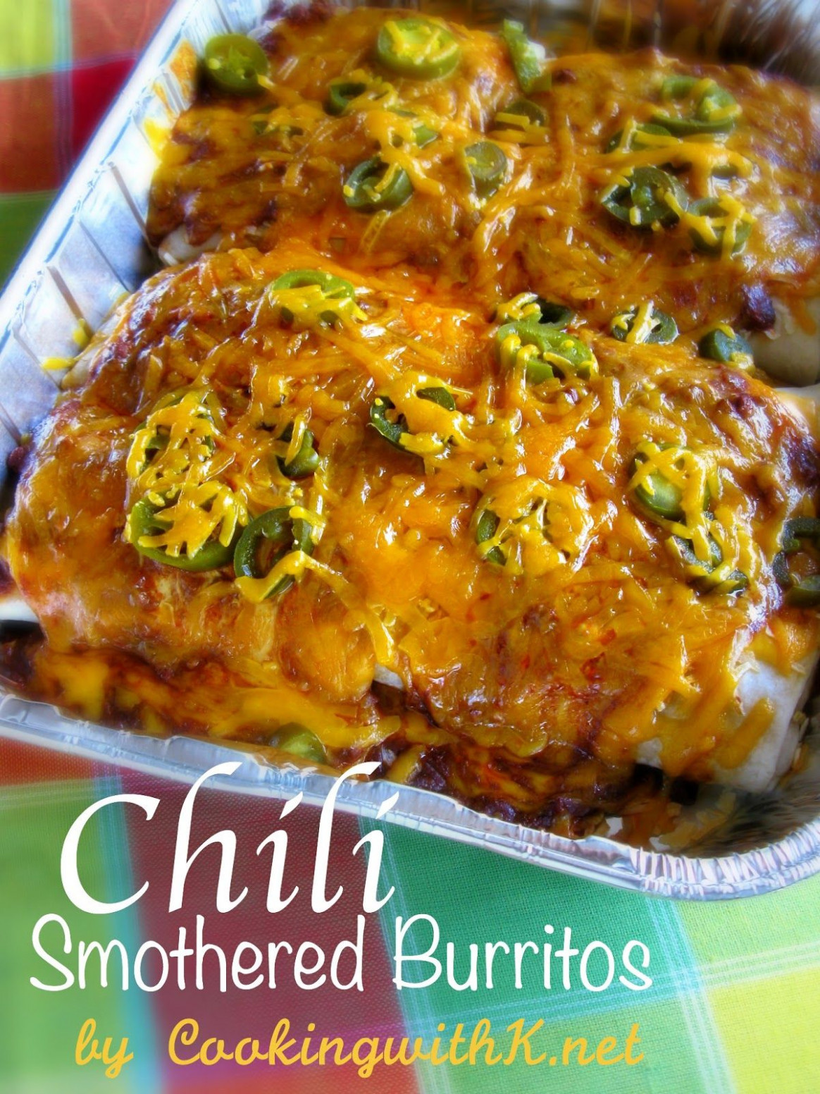 Chili Smothered Burritos {Using El Monterey Frozen ..