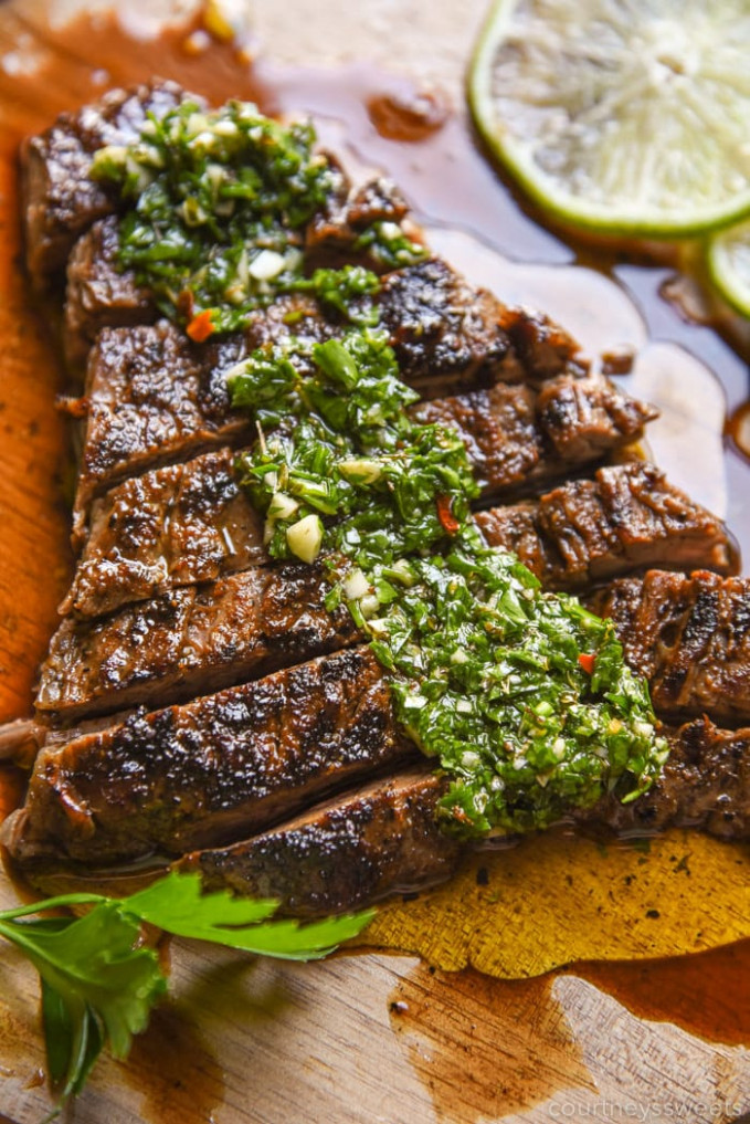 Chimichurri Steak - Courtney's Sweets - dinner recipes steak