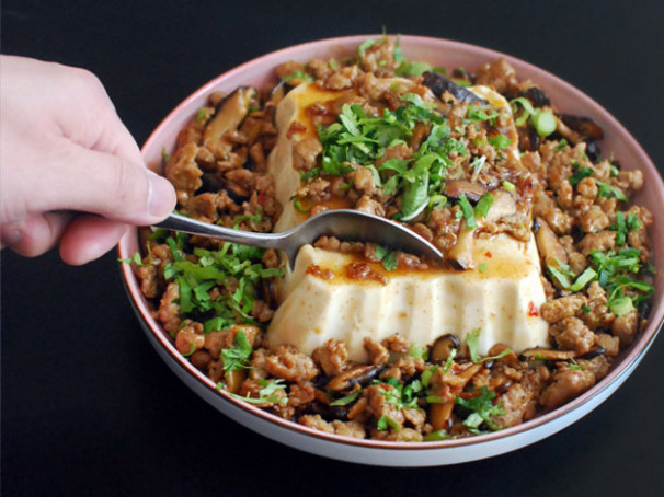 Chinese-American Mashup: Silken Tofu With Spicy Sausage ..