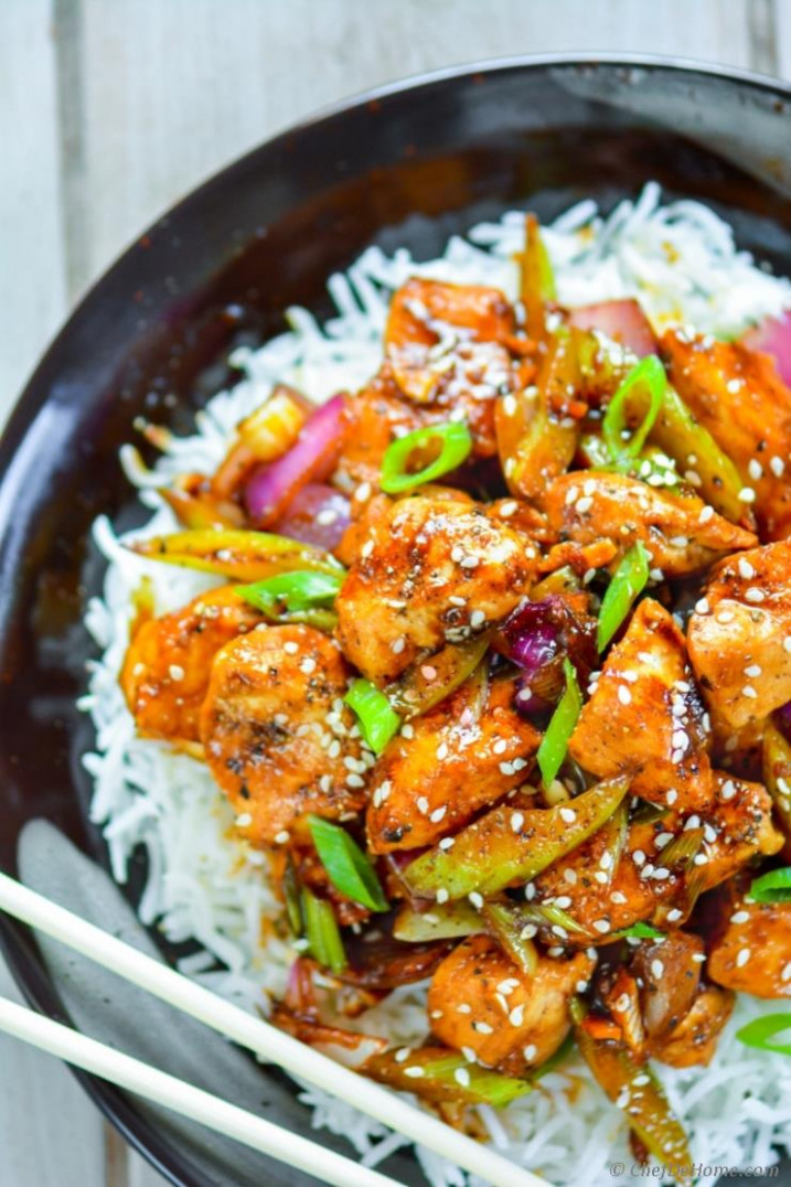 Chinese Black Pepper Chicken Recipe | ChefDeHome