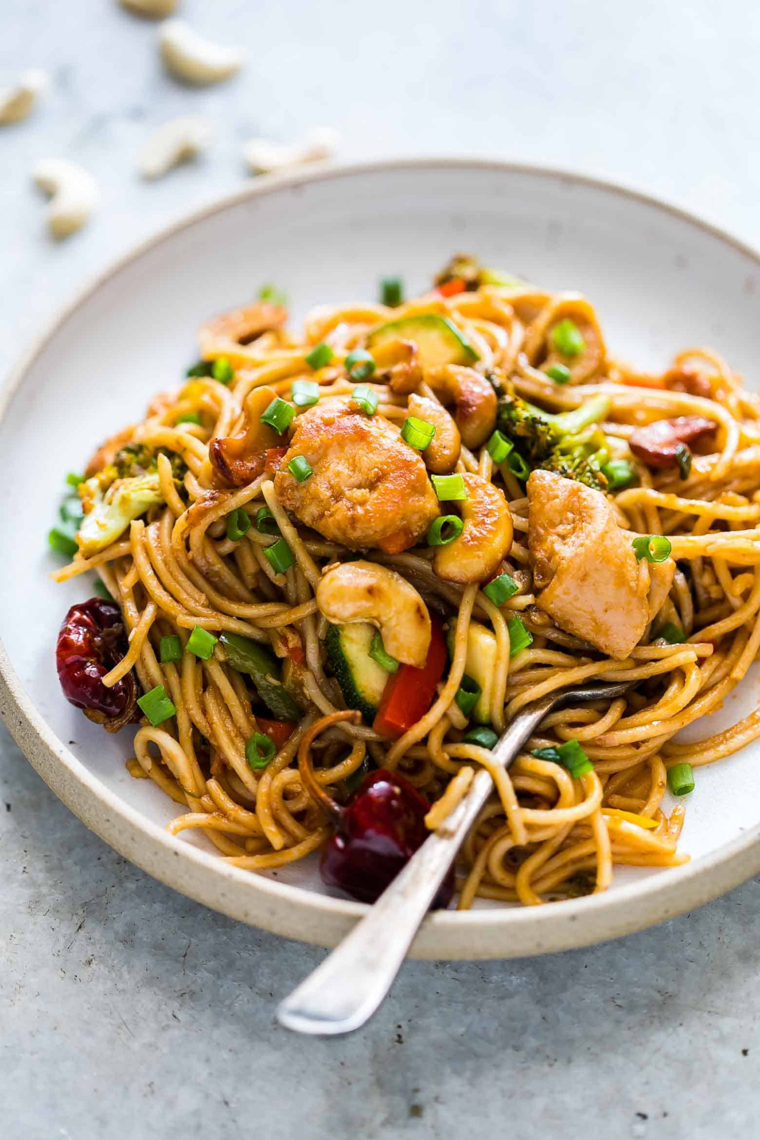 Chinese Cashew Chicken Noodles Stir-Fry - noodle recipes chicken