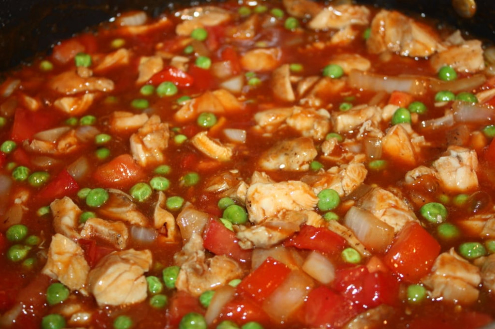 Chinese Chicken & Tomatoes Recipe – Dish Ditty Recipes - recipes diced chicken