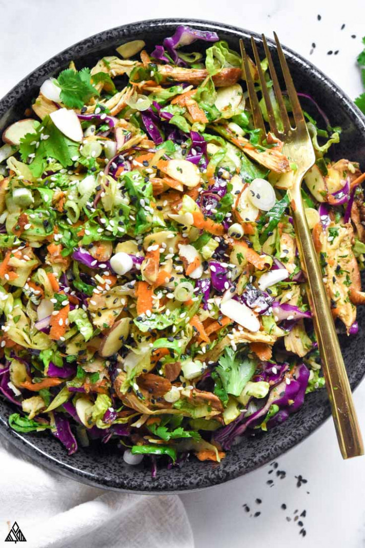 Chinese Chicken Salad - healthy red cabbage recipes