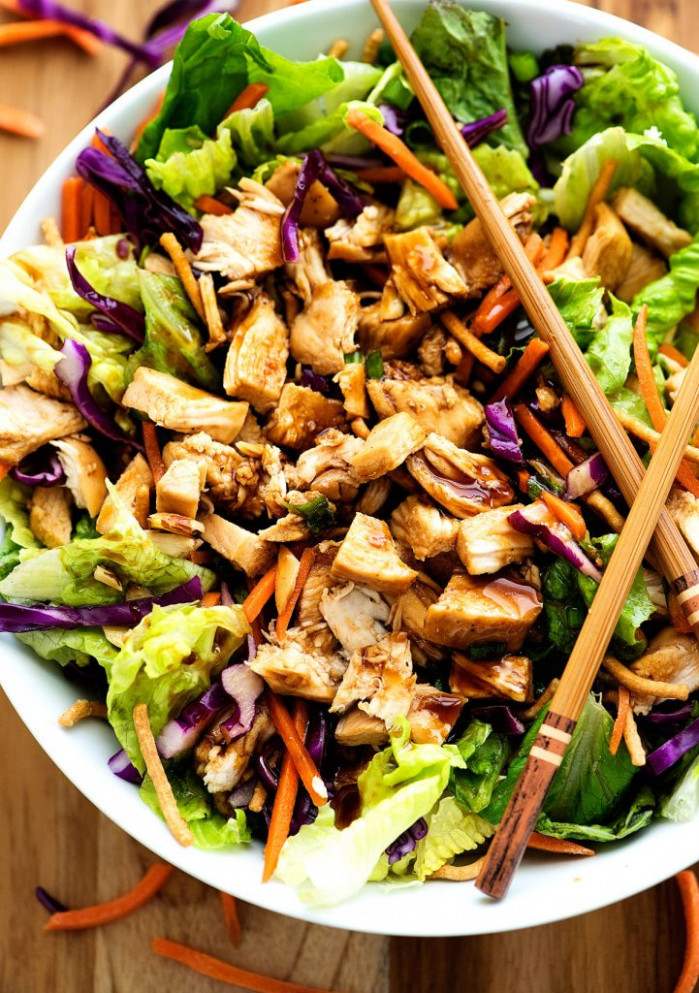 Chinese Chicken Salad Recipe — Dishmaps - chicken recipes chinese