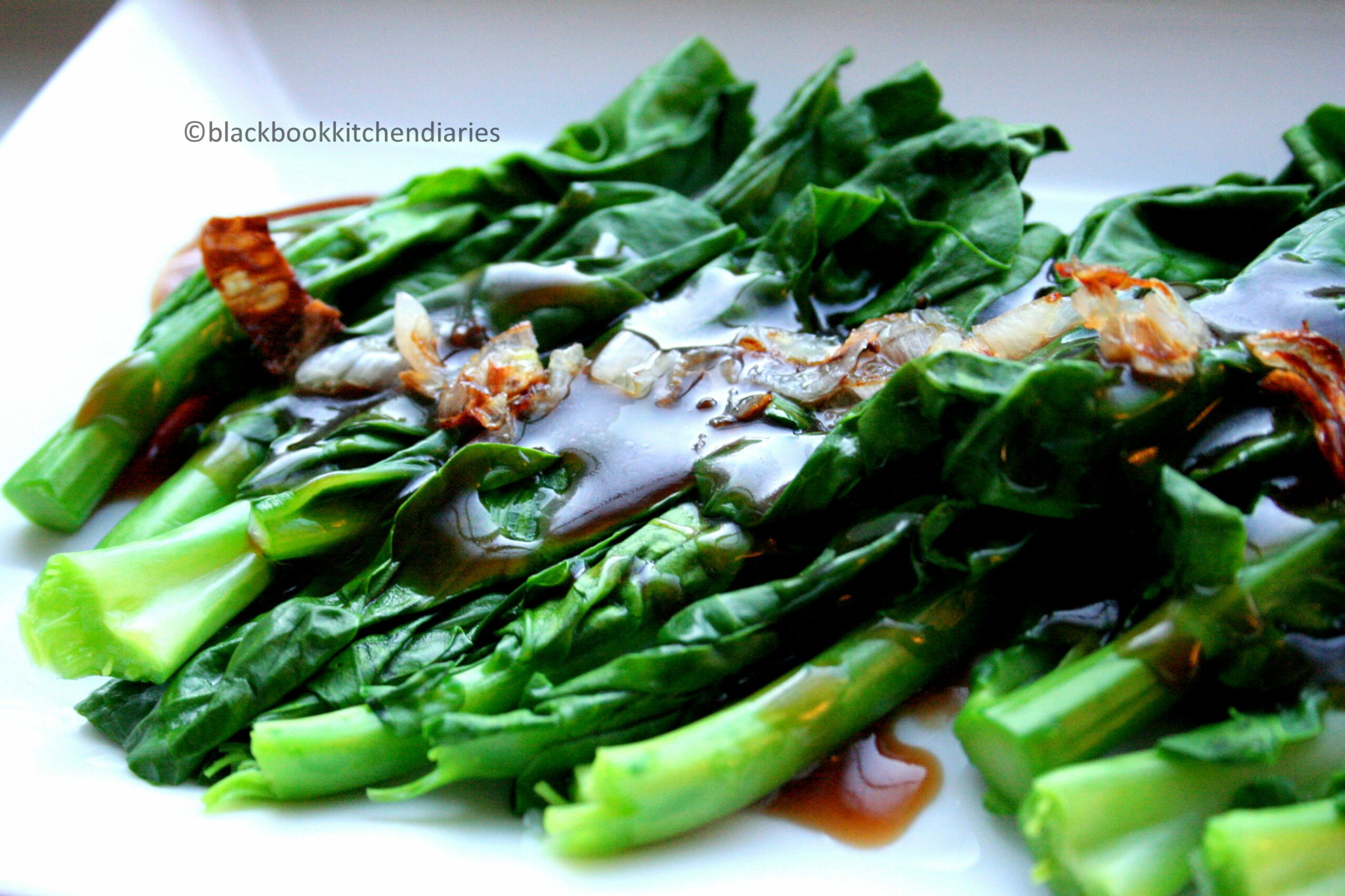 Chinese Greens with Oyster Sauce | - recipe vegetarian oyster sauce