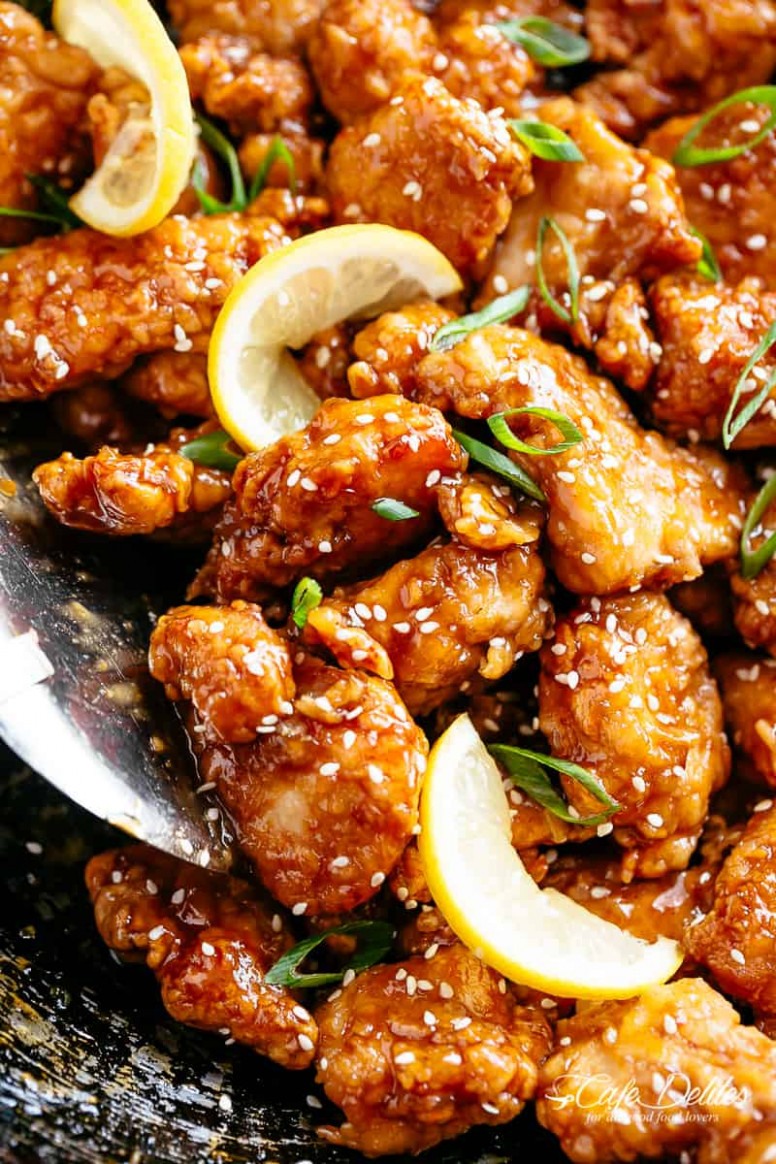 Chinese Lemon Chicken - Easy Chinese Recipes Chicken