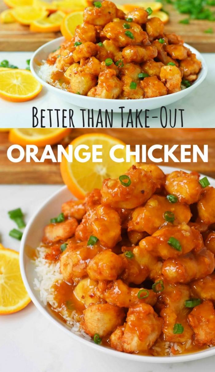 Chinese Orange Chicken - chinese food recipes with pictures