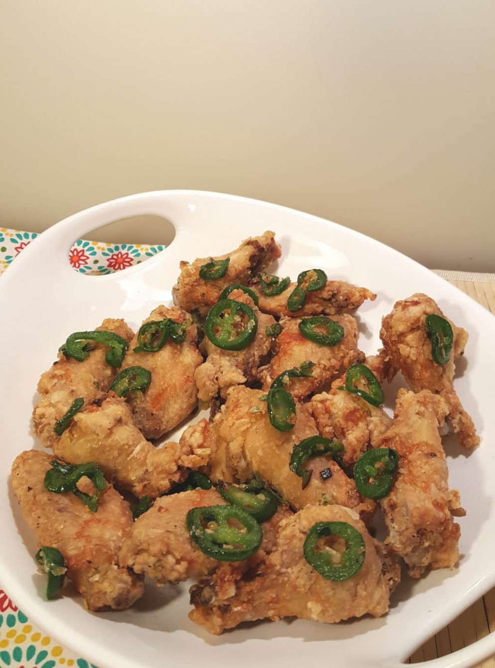 chinese salt and pepper chicken wings recipe - asian recipes chicken
