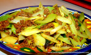 Chinese Stir Fried Beef Mince With Celery – Recipes Minced Meat Healthy