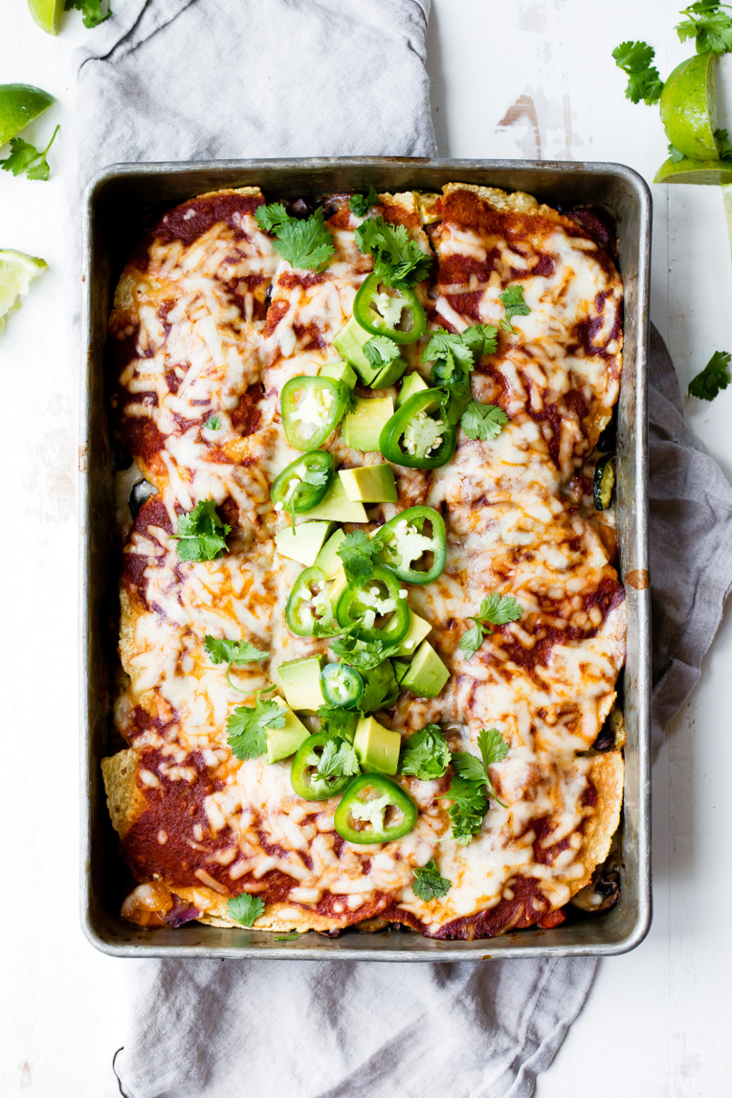 Chipotle Black Bean Roasted Veggie Enchilada Casserole ..