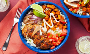 Chipotle Chicken And Rice Bowl With Roasted Sweet Potatoes And Salsa Fresca – Rice Bowl Recipes Chicken