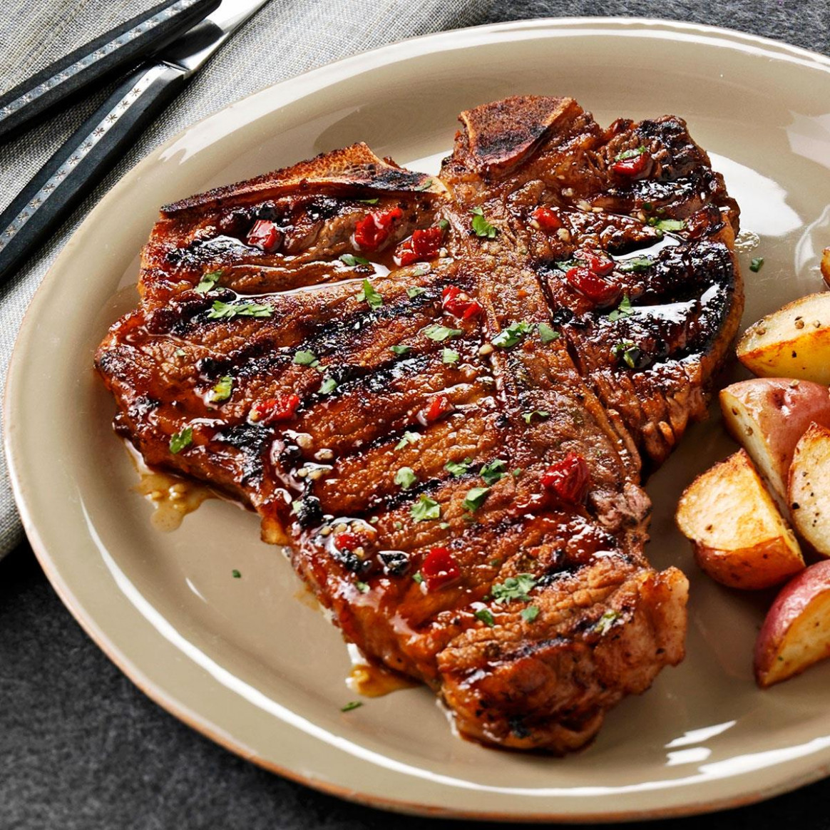 Chipotle-Honey Grilled T-Bones Recipe | Taste of Home - dinner recipes on the grill