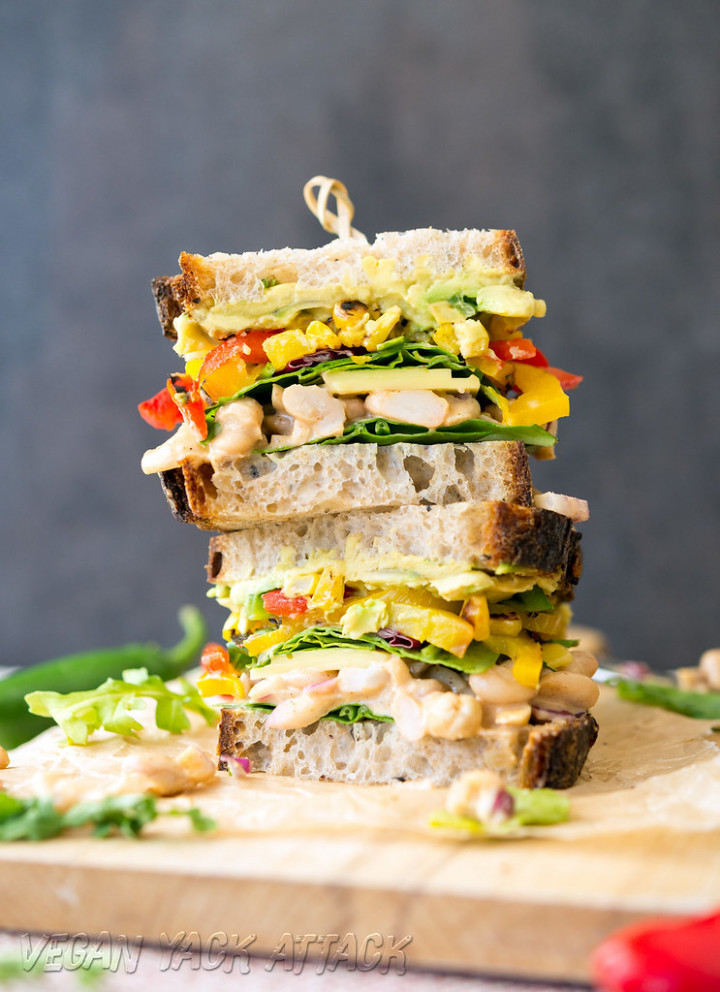 Chipotle White Bean Salad Sandwich - recipes quick and easy vegetarian